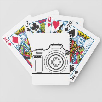 Black and white camera bicycle playing cards