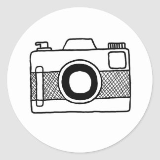 Black and White camera doodle sticker