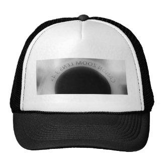 Black and white camera lens cap