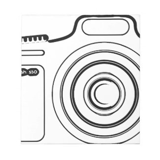 Black and white camera notepad