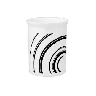 Black and white camera pitcher
