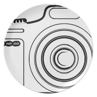 Black and white camera plate