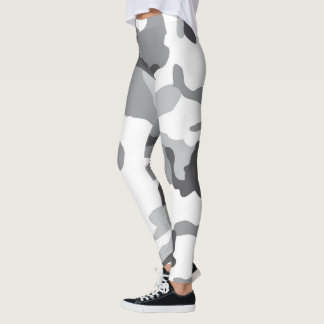 Black and White Camo Leggings