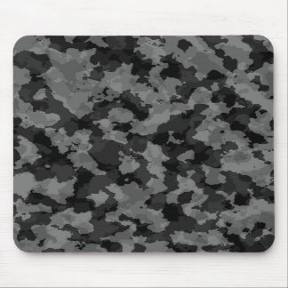 Black And White Camouflage Mouse Pad
