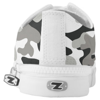 Black and White Camouflage Shoes