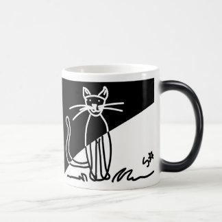 Black and White Cat 1 Morphing Mug