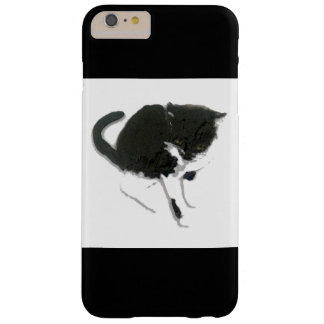 Black and White Cat Art Barely There iPhone 6 Plus Case