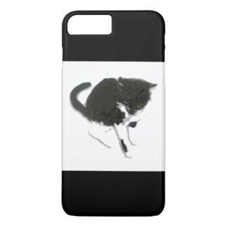 Black and White Cat Art iPhone 7 Plus Case