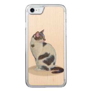 Black and White Cat, Carved iPhone 7 Case