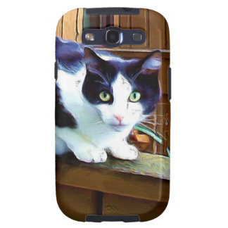 Black and white cat galaxy SIII covers