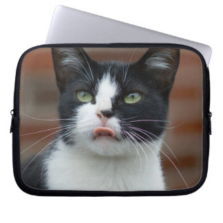 Black and White Cat Computer Sleeve