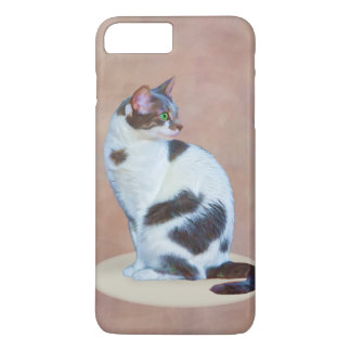Black and White Cat, Customizable iPhone 7 Plus Case