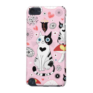 Black and White Cat Pattern For Cat Lovers iPod Touch 5G Case