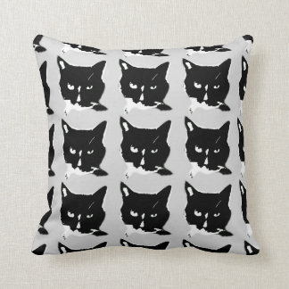 Black and White Cat Pillow
