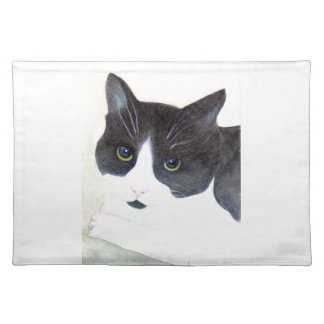 Black and White Cat Placemat