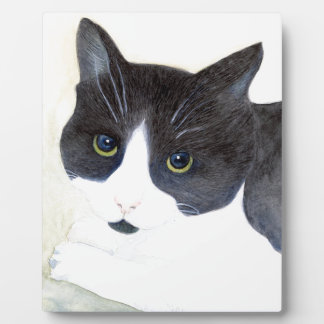 Black and White Cat Plaque