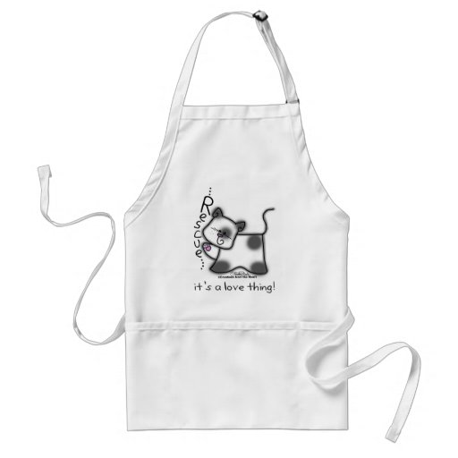 Black and white cat RESCUE...it's a love thing! Aprons