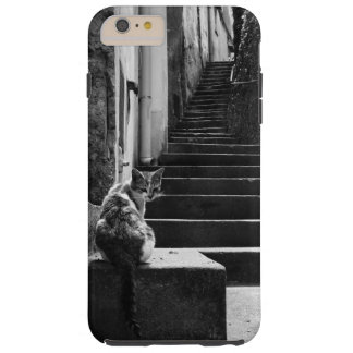 Black and White Cat Tough iPhone 6 Plus Case