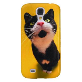 Black and white cat-tuxedo cat-pet kitten-pet cat galaxy s4 cover