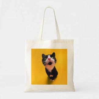 Black and white cat-tuxedo cat-pet kitten-pet cat tote bag