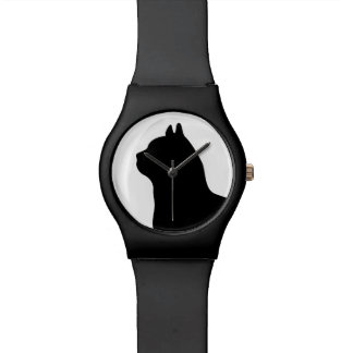 Black and white cat watch cat lover gift
