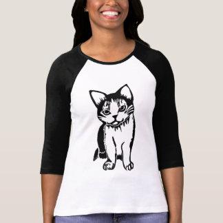 Black and White Cat Women's Raglan T-Shirt