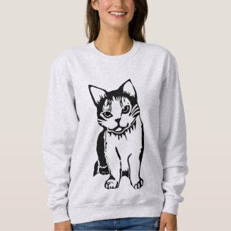 Black and White Cat Women's Sweatshirt