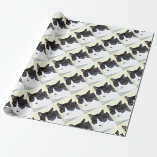 Black and White Cat Wrapping Paper