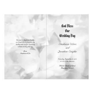 Black and White Catholic Ceremony Wedding Program 21.5 Cm X 28 Cm Flyer