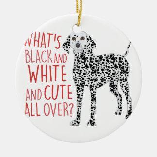 Black And White Ceramic Ornament