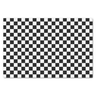 Black and White Check pattern Tissue Paper