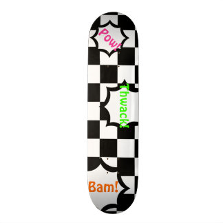 Black and White Checker Pattern Customizable Deck Skate Decks