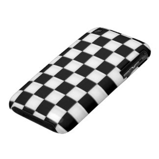 Black and White Checker patterns iPhone 3 Cases