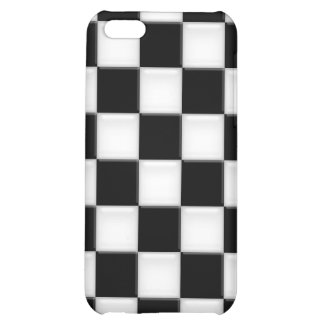 Black and White Checker patterns iPhone 5C Cover