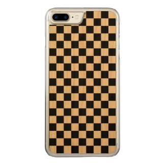 Black and White Checkerboard Carved iPhone 8 Plus/7 Plus Case
