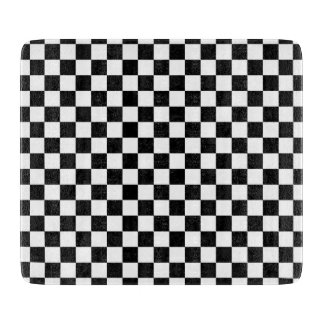 Black and White Checkerboard Cutting Board