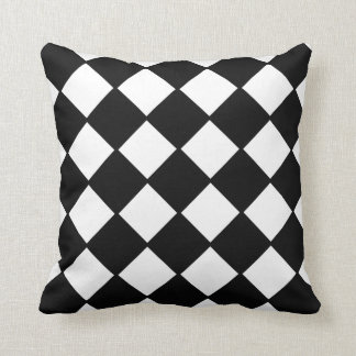 Black and White Checkerboard Decorator Pillow