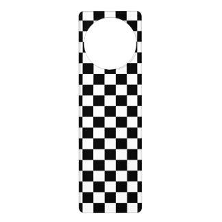 Black and White Checkerboard Door Hanger