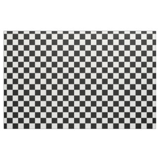 Black and White Checkerboard Fabric