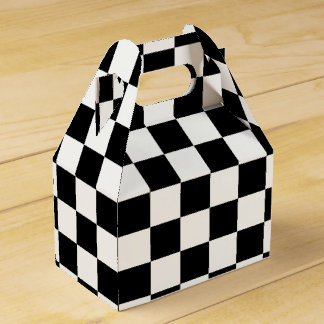 Black and White Checkerboard Favour Boxes