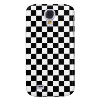Black and White Checkerboard Galaxy S4 Covers