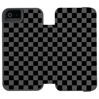 Black and White Checkerboard Incipio Watson™ iPhone 5 Wallet Case
