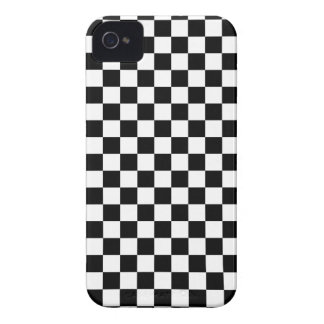Black and White Checkerboard iPhone 4 Case-Mate Case