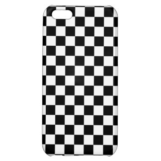 Black and White Checkerboard iPhone 5C Case