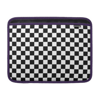 Black and White Checkerboard MacBook Sleeve