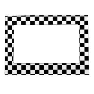 Black and White Checkerboard Magnetic Picture Frame