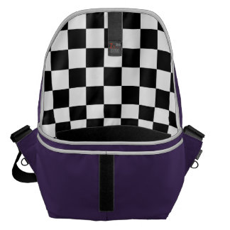 Black and White Checkerboard Messenger Bags