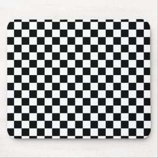 Black and White Checkerboard Mouse Pad