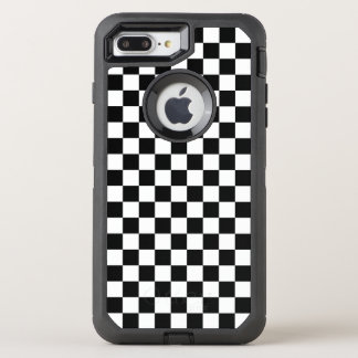 Black and White Checkerboard OtterBox Defender iPhone 8 Plus/7 Plus Case