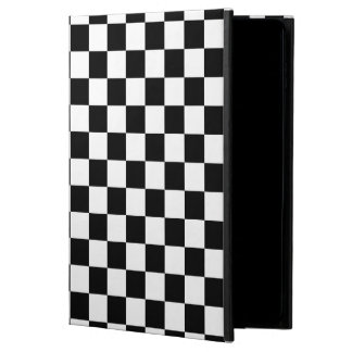 Black and White Checkerboard Powis iPad Air 2 Case